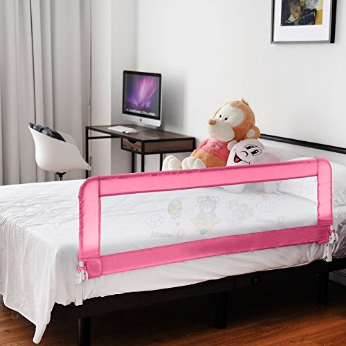 Toddler Bed Rail-Pink SBP-289 by COSTWAY (Image #2)