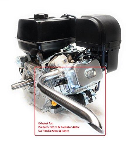ARSPORT Header Exhaust Pipe for mini bikes, Predator 301cc & 420cc, GX Honda 270 & 389