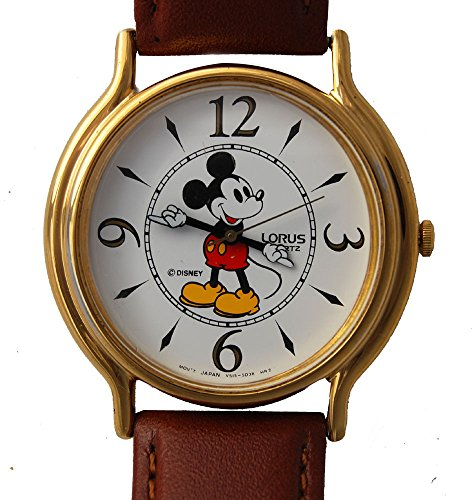 Mickey Mouse Lorus Watch RMF684 Man's Size Tooled Hands