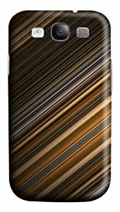 Lines abstract Custom Samsung Galaxy I9300/Samsung Galaxy S3 Case Cover Polycarbonate 3D