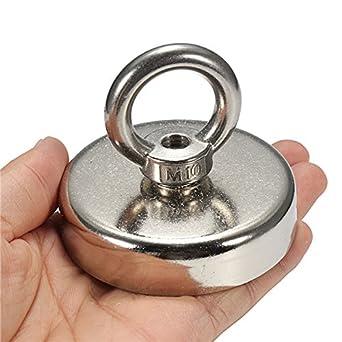 75 mmx63 mm recuperación de neodimio imán 304 Acero Anillo Imán detector de metal ...