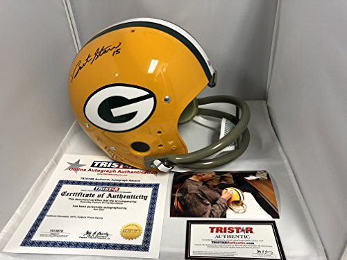 Bart Starr Signed Autographed Green Bay Packers Full Size Throwback TK Helmet Tristar Hologram & COA W/Photo From Signing