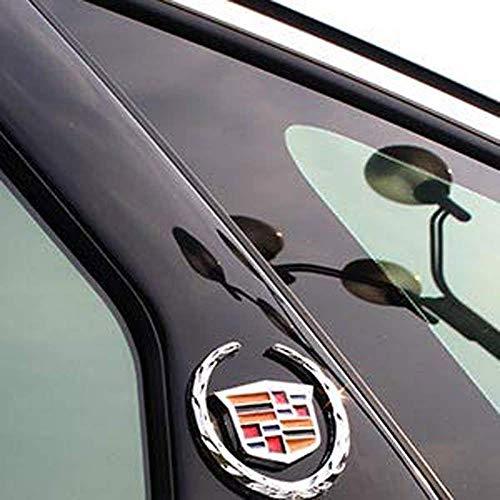 - Patricon 2-Pack Cadillac 3D Emblem Logo Symbol Metal Decals Labeling Car Stickers for Escalade ATS SRX XTS CTS XT5 XLR, Hitch Tailgate Hood Emblem