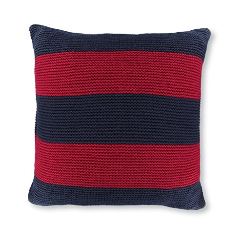Nautica Crew Red Striped Knit Decorative Pillow, 18