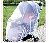5 Colors Baby Stroller Pushchair Cart Mosquito Insect Net Safe Mesh Buggy Crib Netting Baby Car Mosquito Net Outdoor Protect (White)