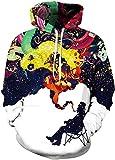 xxxl hooded pullover - Pandolah Men's Patterns Print Athletic Sweaters Fashion Hoodies Sweatshirts (XXL/XXXL, Old Man)