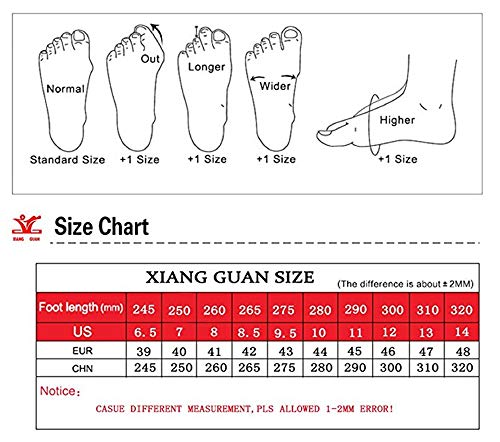 XIANG GUAN Mens Outdoor Low-Top Lacing Up Water Resistant Trekking Hiking Shoes