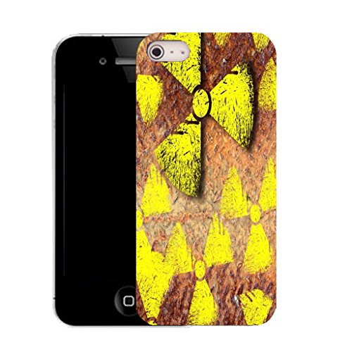 Mobile Case Mate IPhone 4s clip on Silicone Coque couverture case cover Pare-chocs + STYLET - yellow radiation pattern (SILICON)