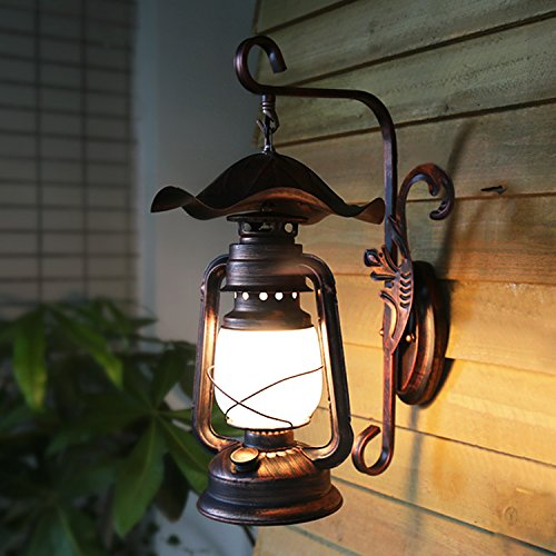 DYBLING Creative Living Room Bedroom Simple Modern Retro American Dining Room Ma Lamp Kerosene Look Old Outdoor Indoor Wall Lights Lamp (Kerosene Lamps For Indoors compare prices)