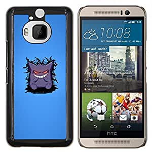 - CARTOON SMILE CUTE ART TEETH WHITE MONSTER - Caja del tel¨¦fono delgado Guardia Armor- For HTC One M9+ / M9 PLUS Devil Case
