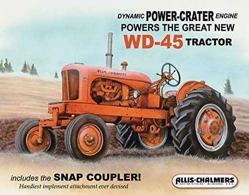 Desperate Enterprises Allis Chalmers - WD-45 Tractor Tin Sign, 16