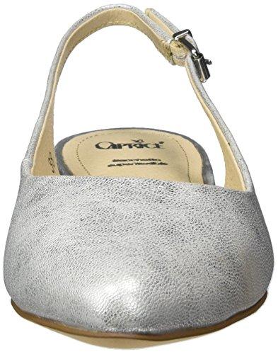 Caprice 29402, Sandalias con Cuña para Mujer Plateado (Silver Metal.)