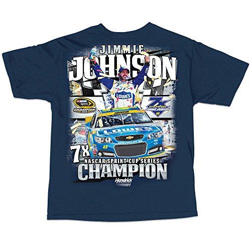 Racing Johnson Jimmie T-shirt (Jimmie Johnson NASCAR 2016 Sprint Cup Champion Short Sleeve 7X Champ T-Shirt (medium))