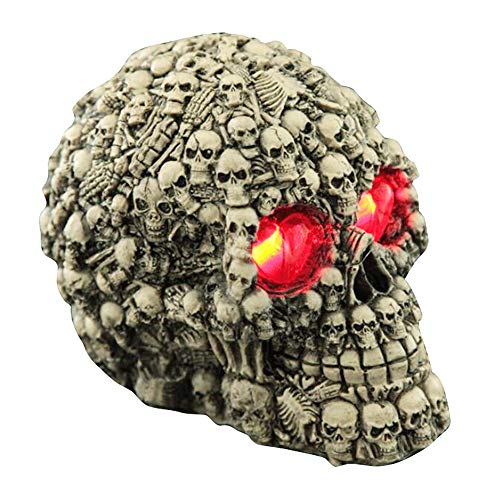 LONTG Skeleton Skull Serried Skull for Halloween Decorations Scary Skull Ghost Skeleton Halloween Ornaments for Haunted House Home Party Garden and -