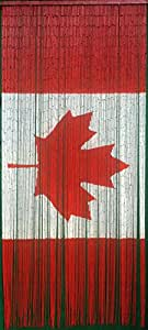 Canadian Flag Beaded Curtain 125 Strands Hanging Hardware Kitchen Dining