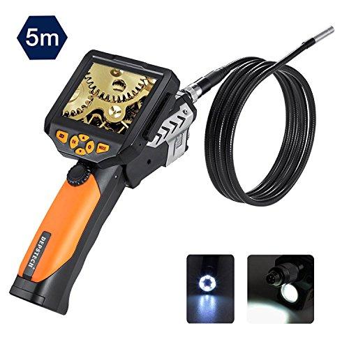 Depstech 3,5-Zoll-QVGA-LCD Digital Wasserdichte Endoskop 8,2 mm Durchmesser Boreskop Video-Endoskop 3.2 ft/5M Kabel