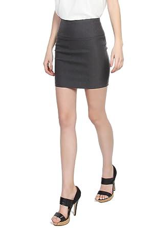 8a9473e20e Amazon.com  TheMogan Women s Stretch Woven High Waist Short Mini ...