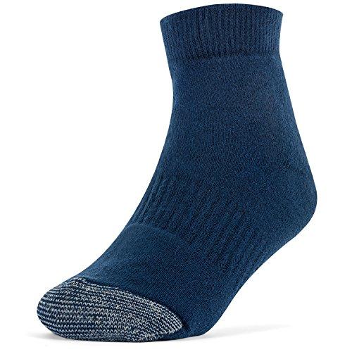 Galiva Girls' Cotton Extra Soft Ankle Cushion Socks - 3 Pairs, Medium, Navy Blue by Galiva (Image #2)
