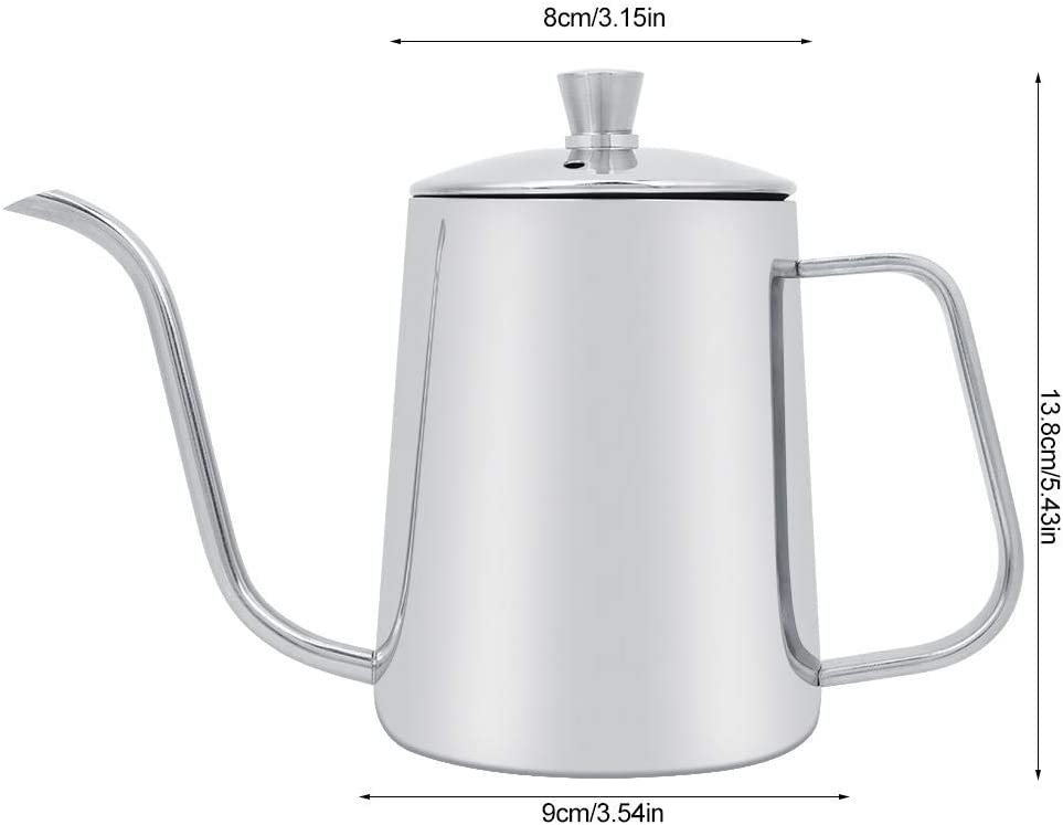 19.4 Oz Pour Over Coffee Kettle Stainless Steel Long Narrow Spout Drip Coffee Pot