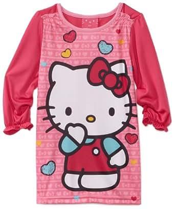 Hello Kitty Little Girls'  Loves Me Toddler Nightgown, Multi, 3T