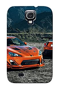 Tpu Fashionable Design Style Scion 86 Toyota Spoilers Tuning Frs Widebody Orange Rugged Case Cover For Galaxy S4 / Appearance