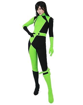 Amazon.com  Miccostumes Women s Shego Jumpsuit Cosplay Costume Green ... 790791877