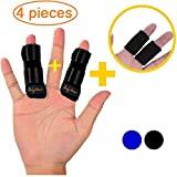 BodyMoves Finger splints Plus 2 Nylon Sleeves for Trigger Finger Mallet Finger Broken Finger Rheumatoid Arthritis Post Operative Care (Midnight Black)