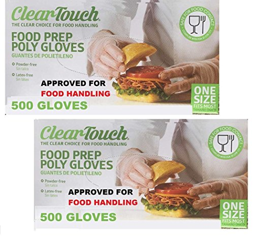 Disposable Gloves Food Preparation Poly Gloves-Disposable Food Gloves - Latex & Powder Free - FDA COMPLIES - FDA 21 CFR 177 (3 Box- 1500 Gloves)