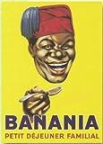 Enseigne rétro en métal Chocolat Banania J'adore 20x 15cm