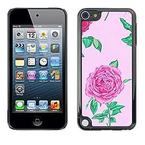 All Phone Most Case / Hard PC Metal piece Shell Slim Cover Protective Case Carcasa Funda Caso de protección para Apple iPod Touch 5 begonia floral pink spring flower petal