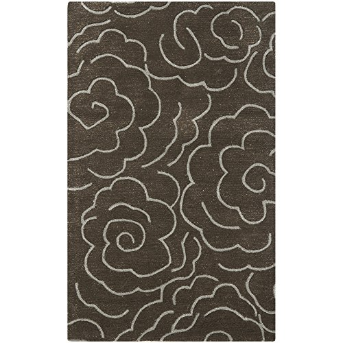 Safavieh Soho Collection SOH812G Handmade Chocolate and Ivory Premium Wool Area Rug (3' x 5') ()