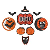 New Age Scare Halloween Party Assorted Sizes Glitter Cutouts Decoration, Paper, Pack of 9