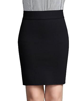 Ladies Stretch Bodycon Micro Mini Skirt Ponte Fabric Elasticated SHORT Length
