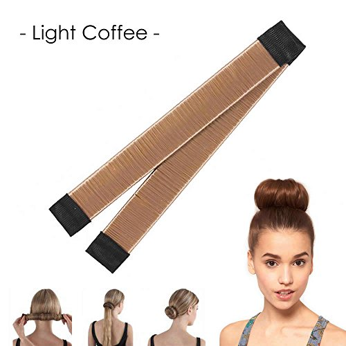 AStorePlus Unique Hair Bun Maker, 1 Pcs French Modern Hair Styling Maker, Synthetic Wig Bun Shapers and Donut Hair Band Style Tools, Light Coffee (Coffee Hair Wig)
