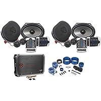 2) Pairs Rockville RV68.2C 6x8/5x7 Component Car Speakers+4-Ch Amplifier+Amp Kit