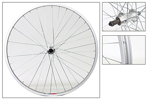 Wheel Rear 700 x 28/35 Silver, QR, Alloy QR Silver FW 5-7Sp, 14g UCP Spokes, 36H (Rear Alloy Wheel 700c)