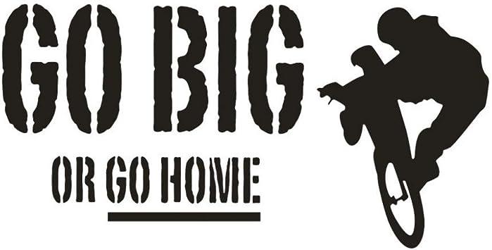 Bicicleta Go Big or Go Home Adhesivos de pared Letras negras ...