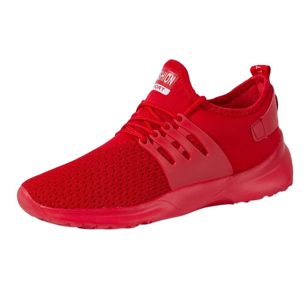 Sneakers for Men Fashion Comfortable Sports Running Shoe Hiking Shoe Mesh Breathable Climbing Shoes Miuye yuren Red