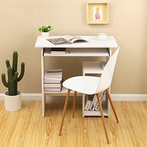 VASAGLE Mesa de Ordenador, Escritorio de Oficina, Mesa de Estudio ...