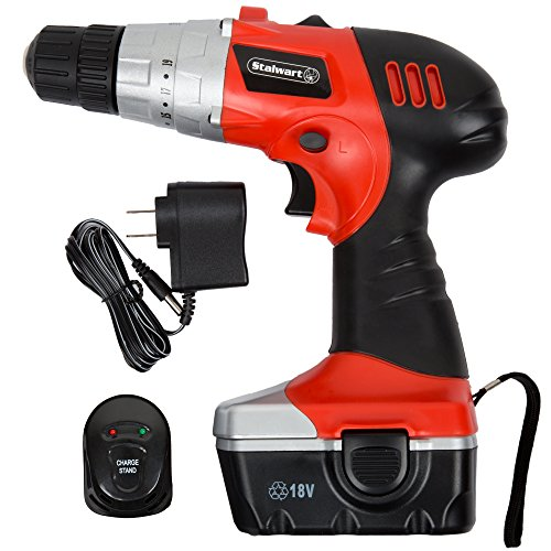 18V Cordless Drill with LED Light and Extras