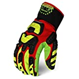 Ironclad Kong INDI-CCP-07-XXXL Industrial Impact Cotton Corded Palm Oil & Gas Safety Gloves, XXX-Large