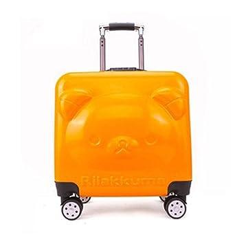 WQING Maleta para Niños Caja Kids Kids Trolley ABS + PC para Niños Y Niñas Edad 3+ Oso,Orange: Amazon.es: Deportes y aire libre