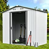 Walcut 6' x 4' Outdoor Garden Storage Utility Tool Shed Backyard Lawn Building Garage with Floor