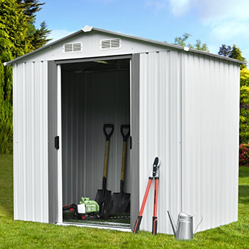 Walcut 6' x 4' Outdoor Garden Storage Utility Tool Shed Backyard Lawn Building Garage with Floor by WALCUT