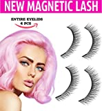 Dual Magnetic False Eye Lashes [No Glue] 3D Eyelashes Premium Magnet Quality False Eyelashes Set for Natural Look Full Eye