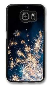 Fireworks Polycarbonate Hard Case Cover for Samsung S6/Samsung Galaxy S6 Black wangjiang maoyi