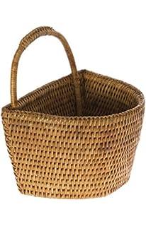 KOUBOO La Jolla Rattan Wall Basket, Honey Brown, Small