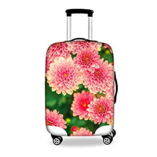 "Coloranimal Thick Elastic Luggage Protective Covers for 26"" 28"" 30"" Suitcase Pink Flower Pattern L"