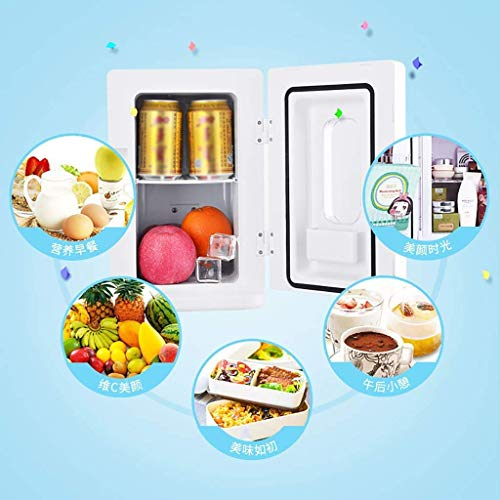 10L Mini Car Refrigerator,Portable Small Wine Fridges Camping Coolers & Warmer Bags, Car Heating and Cooling Box Car,White