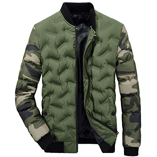 Warm Clothes Men, Simayixx Casual Military Windbreaker Flight Jacket Camouflage Cotton Field Coats Outerwear Blouse